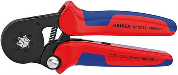 """Knipex 975314 - Insulated Crimping Crimper Pliers 28 - 7 AWG 7-1/4"""""""