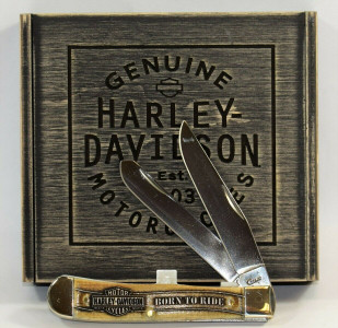 "Case Knife XX 52174 Harley Davidson Trapper 4.125"" Gift Set"