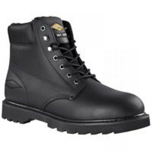 Diamondback 655SS-8.5 Action Leather Black 8.5 Steel Toe Work Boot