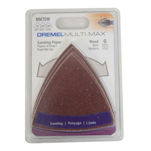 Dremel MM70W 6 Piece Multi-Max 60, 120, 240 Grit Sandpaper
