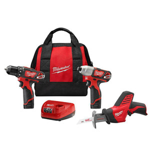 Milwaukee 2498-23 M12 3 Piece Cordless Combo Kit