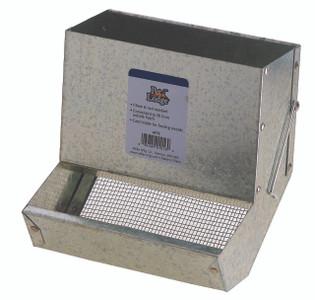 """Pet Lodge AF7S 7"""" Metal Small Animal Feeder with Sifter Bottom"""