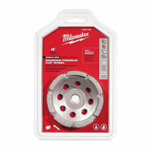 Milwaukee 49-93-7700 4 in. Diamond Cup Wheel Single Row