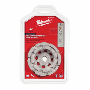 "Milwaukee 49-93-7750 4"" Diamond Cup Wheel Double Row"