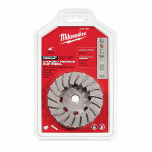 Milwaukee 49-93-7780 4 in. Diamond Cup Wheel Segmented-Turbo