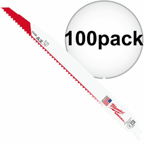 Milwaukee 48-01-7027 (100 Count) 12 in. 5 TPI The AX Sawzall Blade