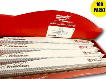 Milwaukee 48-01-7711 (100 Count) 12 in. 8 TPI The Wrecker Sawzall Blade