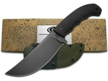 CASE XX & Winkler 43179 Black Laminate Hambone Fixed Blade Carbon Steel Knife