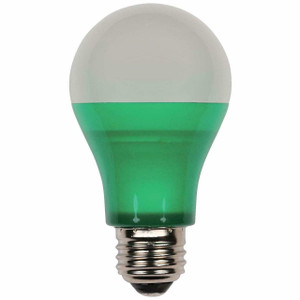 Westinghouse 03152 40-Watt Equivalent Omni A19 Green LED Party Bulb with Medium Base