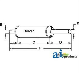A & I Products 403551R1 Muffler For Farmall Tractors