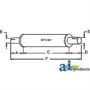A & I NAA5230E Muffler For New Holland and Ford NAA Tractors