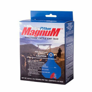 Y-Tex 1857000 Python Magnum 20 Count Per Box Insecticide Cattle Ear Tags