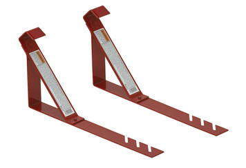 QualCraft 2501 Set Of 2 Heavy Duty 45 Degree Angle Fixed Roof Bracket