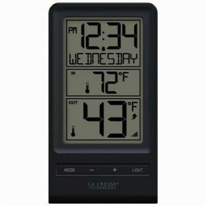 La Crosse Technology 308-1415BW Black & White, Wireless Thermometer, Indoor/Outdoor Temp