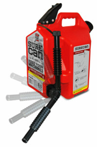 Sure Can Sur50g1 5 Gallon Red Plastic Gasoline Can Rotating Nozzle