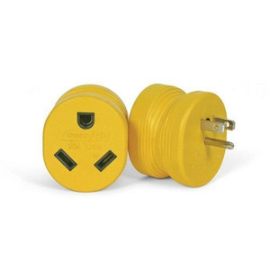 Camco 55223 RV Electrical Adapter 15 Amp Male to 30 Amp Female