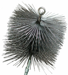 "Imperial Mfg Round 6"" Premium Wire Chimney Cleaning Brush 1/4"" Thread"
