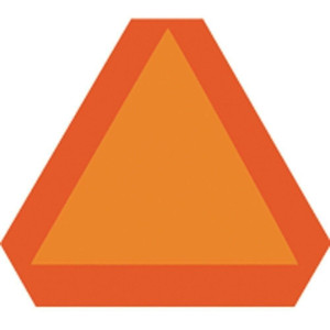 Hy-Ko TA-1 AluM Bright Orange Slow Moving Vehicle Emblem Triangle Highway Sign