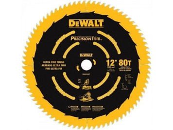 "DeWALT DW3232PT 12"" Precision Trim 80 Tooth Saw Blade"