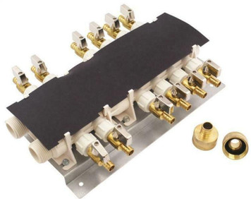 Apollo 6907912CP 12 Port PEX Manifold With Shutoff Valves