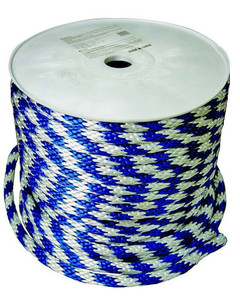 """Mibro Group 300511TV Derby Blue and White Rope 5/8"""" x 200' Roll"""