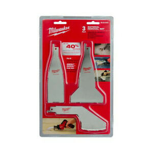 Milwaukee 49-22-5403 3pc Material Blade Removal Set