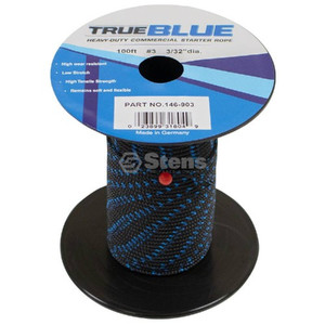 "Stens 146-903 True Blue 100' 3/32"" Diameter Starter Pull Rope / #3 Solid Braid"