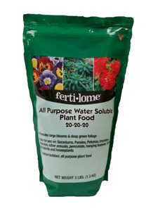 Fertilome 11722 All Purpose 20-20-20 Water Soluble Plant Food - 3 Lb.