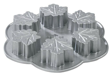 Nordic Ware 56548 Cast Aluminum Maple Leaf 2.24 Cup Muffin Pan