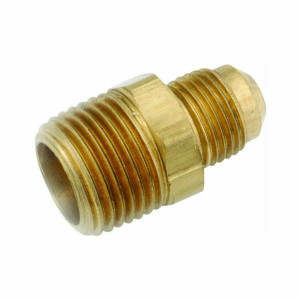 "Anderson Metals 754048-0808 1/2"" Flare x 1/2"" Male Pipe Thread Brass Connector"