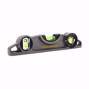 "Stanley 43-609 FatMax XTREME 9"" Magnetic Torpedo Level with Adjustable Vial"