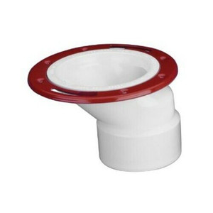 "Oatey 43501 PVC Offset w/ Ring Closet Toilet Flange 3"" to 4"""