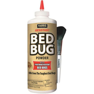 Harris Resistant Bed Bug Power with Brush. Kills Pyrehroid-Resistant.