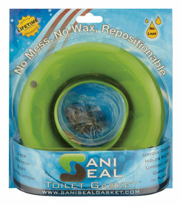 Sani Seal BL01 Green Waxless Toilet Gasket, Universal Fit, No Wax