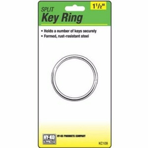 "Hy-Ko KC109 1-1/2"" Split Key Ring"