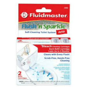 Fluidmaster 8302P8, 2ct. Flush N Sparkle Bleach Replacement Cartridge
