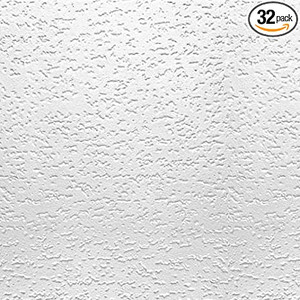 USG Interiors Tivoli Wood Fiber Textured Finish Ceiling Tile 32 Pack 4240