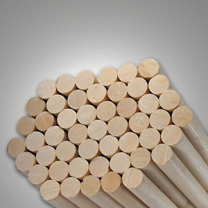 "20 Round Hardwood Dowel Rods 1/2"" Dia x 36"" Long 7308U C.C. White"
