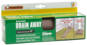 Frost King Drain Away  Brown Automatic Downspurt Extender Extension