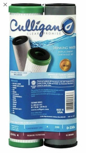 Culligan D-250A Monitored Dual Filtration System Replacement Filter Cartridge Set