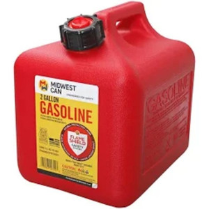 Midwest 2310 2 Gallon, Red, Portable, High Density Polyethylene Gas Can