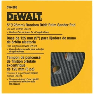 DeWalt DW4388 8-Hole Hook and Loop 5 Inch Sanding Disc Backing Pad