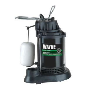 Wayne SPF50 Submersible Thermoplastic 1/2HP Water Sump Pump & Switch