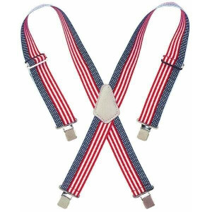 CLC Custom LeatherCraft 110USA United States Flag Adjustable Elastic Suspenders
