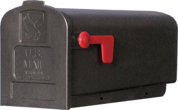 Solar Group Parson Standard Black Plastic Rural Curbside Mailbox