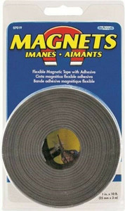 """Master Magnetics 07019 Magnetic 1"""" X 10' Tape Roll With Adhesive Backing"""