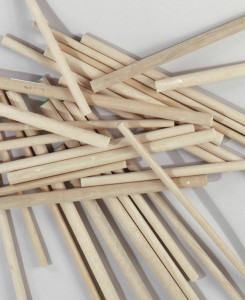 "15 Round Hardwood Dowel Rods 5/8"" Dia x 36"" Long 7310U C.C. Brown"