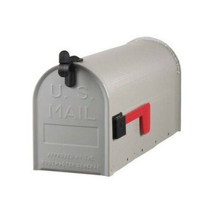 Solar Group Standard Galvanized Steel Gray Rural Curbside Mailbox