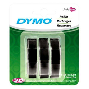 Dymo - Embossing Tape Refill for Express Label Maker 3 Pack (1741670)