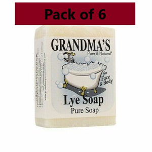 Remwood Products Six (6) 6oz Bars of Grandma's Pure Lye Soap (60018)
